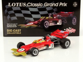 Jochen Rindt Lotus 72 #3 World Champion Spain GP formula 1 1970 1:18 Quartzo