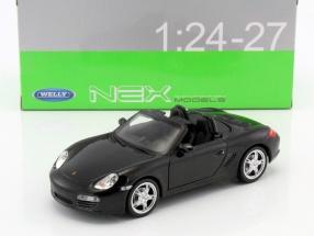 Porsche Boxster S Cabriolet Baujahr 2012 schwarz 1:24 Welly