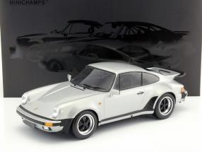 Porsche 911 (930) Turbo Baujahr 1977 silber 1:12 Minichamps