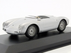 Porsche 550 Spyder Baujahr 1955 silber metallic 1:43 Minichamps