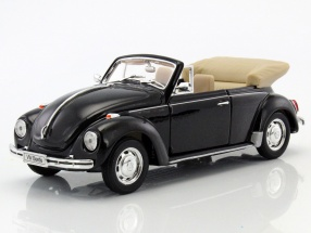 Volkswagen VW Beetle Convertible Construction year 1960 black 1:24 Welly