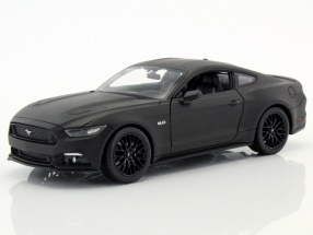 Ford Mustang GT year 2015 mat black 1:24 Welly