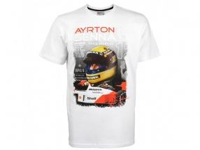 Ayrton Senna McLaren T-Shirt World Champion 1988 weiß
