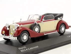 Horch 853A Cabriolet dunkelrot / beige 1:43 WhiteBox
