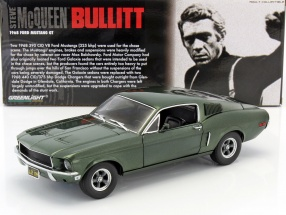 Ford Mustang GT Movie Car Bullitt - Steve McQueen 1968 1:18 Greenlight