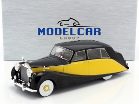Rolls Royce Silver Wraith Empress by Hooper black / yellow 1:18 Model Car Group