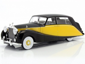 Rolls Royce Silver Wraith Empress by Hooper black / yellow 1:18 Model Car Group