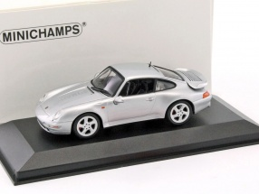 Porsche 911 (993) Turbo Baujahr 1997 silber metallic 1:43 Minichamps