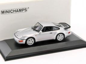 Porsche 911 (964) Turbo Baujahr 1990 silber metallic 1:43 Minichamps