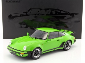 Porsche 911 (930) Turbo year 1977 light green 1:12 Minichamps