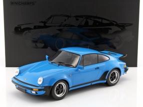 Porsche 911 (930) Turbo Baujahr 1977 mexiko blau 1:12 Minichamps