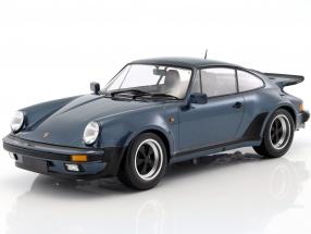 Porsche 911 (930) Turbo year 1977 blue gray metallic 1:12 Minichamps
