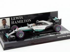 L. Hamilton Mercedes F1 W07 #44 Winner Abu Dhabi Formel 1 2016 1:43 Minichamps