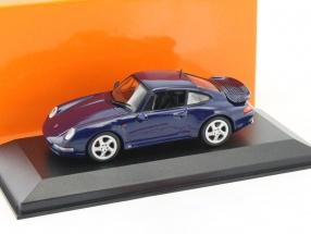 Porsche 911 (993) Turbo Baujahr 1993 dunkel blau metallic 1:43 Minichamps