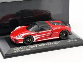 Porsche 918 Spyder Weissach Package LeMans Racing Design 2015 1:43 Minichamps