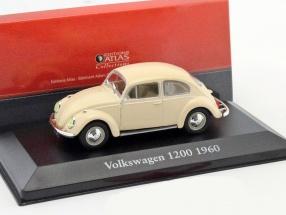 Volkswagen VW Käfer 1200 Baujahr 1960 beige 1:43 Atlas