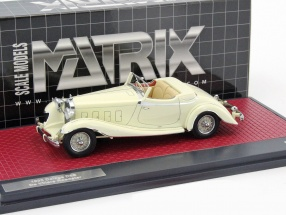 Delage D8S De Villars Roadster year 1933 cream white 1:43 Matrix