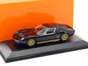 Lamborghini Miura Baujahr 1966 schwarz 1:43 Minichamps