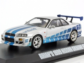 Brian's Nissan Skyline GT-R Baujahr 1999 Fast and Furious Movie 1:43 Greenlight