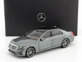 Mercedes-Benz S-Klasse (V222) MOPF Baujahr 2017 selenit grau 1:18 Norev