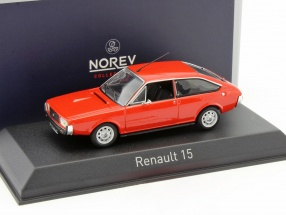 Renault 15 TL year 1976 red metallic 1:43 Norev
