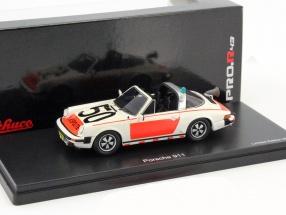 Porsche 911 Targa Rijkspolitie white / red 1:43 Schuco