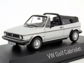 Volkswagen VW Golf Cabriolet year 1981 silver metallic 1:43 Norev
