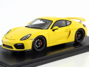 Porsche Cayman GT4 year 2016 yellow 1:43 Spark