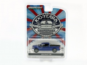 Ford F-150 Baujahr 2016 blau metallic 1:64 Greenlight