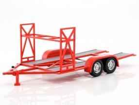 Tandem Car Trailer Texaco rot / weiß 1:18 GMP