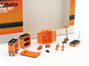 Workshop equipment Beta Tool Kit orange / black 1:43 TrueScale