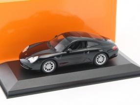 Porsche 911 Carrera coupe year 2001 black 1:43 Minichamps