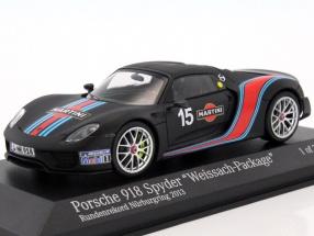 Porsche 918 Spyder Weissach-Package Martini lap record Nurburgring 2013 1:43 Minichamps