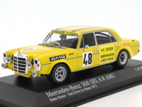 Mercedes-Benz 300 SEL 6.8 AMG #48 test Drive LeMans 1972 Heyer 1:43 Minichamps