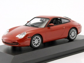 Porsche 911 Carrera coupe year 2001 orange red metallic 1:43 Minichamps