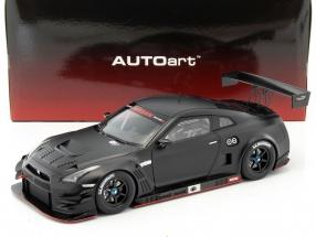Nissan GT-R Nismo GT3 Baujahr 2015 matt schwarz 1:18 AUTOart