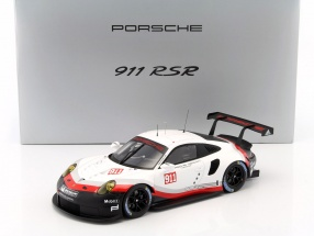 Porsche 911 (991) GT3 RSR Promo Version 2017 mit Vitrine 1:18 Spark