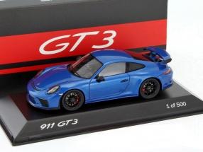 Porsche 911 (991 II) GT3 saphirblau metallic 1:43 Spark