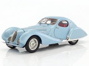 Talbot Lago Coupe T150 C-SS Teardrop Figoni & Falaschi year 1937-1939 light blue metallic 1:18 CMC