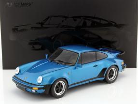 Porsche 911 (930) Turbo Baujahr 1977 blau metallic 1:12 Minichamps