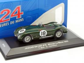 Jaguar C-Type #18 Winner 24h LeMans 1953 Bolt, Hamilton 1:43 Ixo