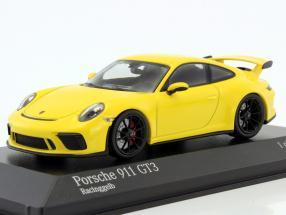 Porsche 911 (991) GT3 MK II year 2017 racing yellow 1:43 Minichamps