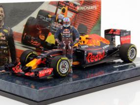 Daniel Ricciardo Red Bull RB12 #3 Austrian GP formula 1 2016 With driver figure 1:43 Minichamps