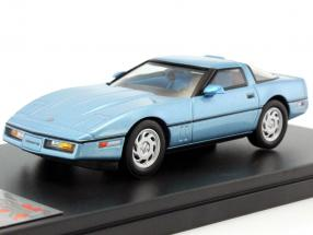 Chevrolet Corvette C4 year 1984 blue metallic 1:43 Premium X