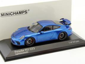 Porsche 911 (991) GT3 MK II year 2017 blue metallic 1:43 Minichamps