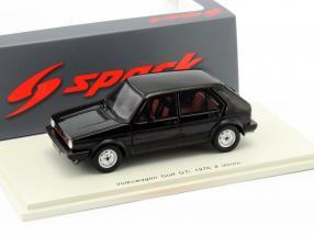 Volkswagen VW Golf GTI 4-Türer Baujahr 1976 schwarz 1:43 Spark