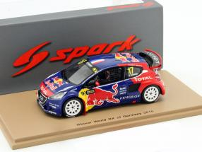 Peugeot 208 #17 Winner WRX Germany 2015 Davy Jeanney 1:43 Spark