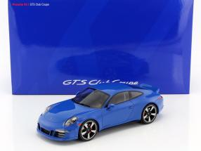 Porsche 911 (991) GTS Club Coupe Year 2015 blue With Showcase 1:18 GT-SPIRIT