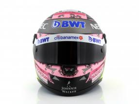 Sergio Perez Force India VJM10 formula 1 2017 helmet 1:2 Schuberth