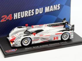 Audi R18 E-Tron Quattro #1 Winner 24h LeMans 2012 Fässler, Lotterer, Treluyer 1:43 Atlas